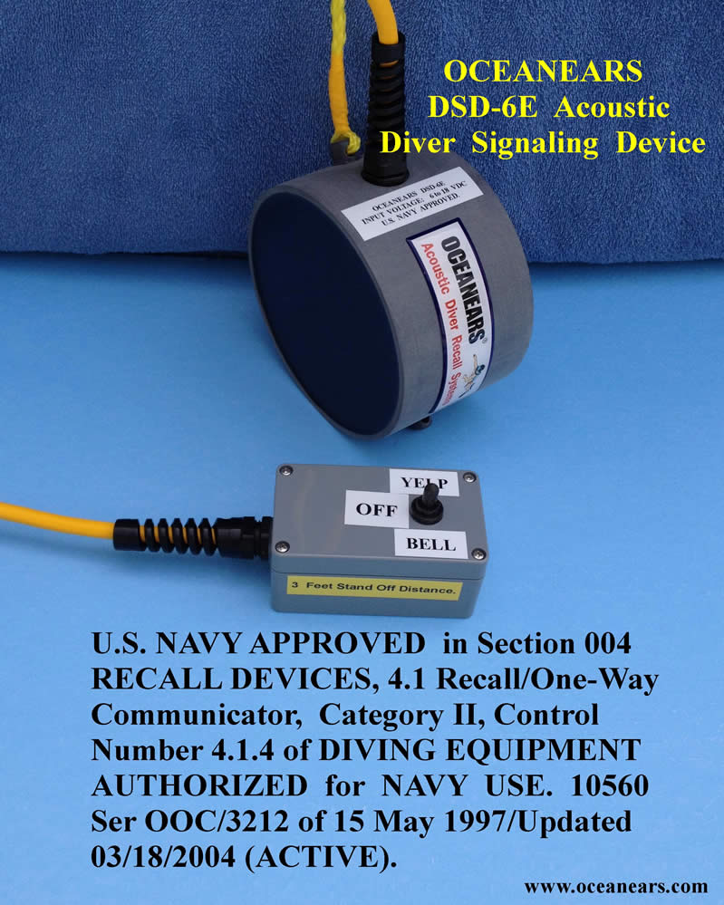 OceanEars DSD-6E Acoustic Diver Signaling Device